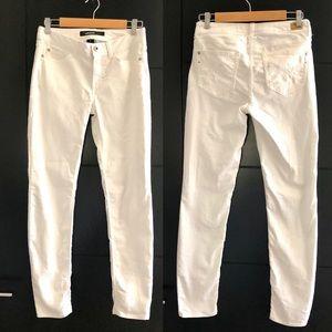 JORDACHE skinny white pants